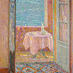 Sotheby's - Henri Le Sidaner - Table by the Sea, Villefranche-sur-Mer, 1920