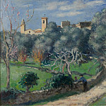 Sotheby's - Albert Andre - Landscape, the Church at Cannet, 1902