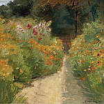 Картины с аукционов Sotheby's - Max Liebermann - Flower Shrubs in Wannsee Garden, 1919