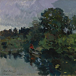 Sotheby's - Constantin Korovin - On the Lake with Lily Pads, 1915