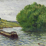 Sotheby's - Maximilien Luce - Rolleboise, Barge on the Seine
