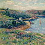 Картины с аукционов Sotheby's - Henry Moret - The River of Belon, 1908