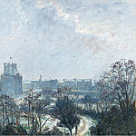 The Garden of Tuileries and Pavilion de Flore, Snow Effect, 1899, Camille Pissarro