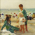 Картины с аукционов Sotheby's - Paul Michel Dupuy - On the Beach at Deauville