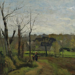 Woman and Child on the Way, Winter, 1869-70, Camille Pissarro