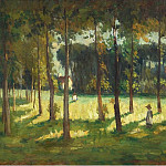 Картины с аукционов Sotheby's - John Young Johnstone - In the Marple Grove, 1925