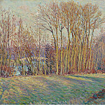 Poplars in Autumn near Chalifert, 1900, Анри Лебаск