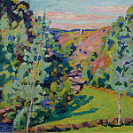 Картины с аукционов Sotheby's - Armand Guillaumin - The Valley of Sedelle, 1920