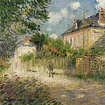 Картины с аукционов Sotheby's - Gustave Loiseau - The House of Monsieur Compon at Vaudreuil, 1923