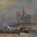 Sotheby's - Albert Lebourg - Notre Dame de Paris, View from the Quay of Tournelle