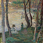 Sotheby's - Henri Lebasque - Resting at the Bank of Yaudet, 1903