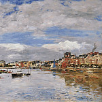 Картины с аукционов Sotheby's - Eugene Boudin - Trouville, the Port, 1895