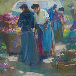 часть 3 -- European art Европейская живопись - Louis Fortuney The flowers Market 36916 3306
