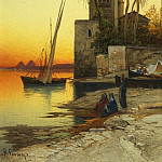 Hermann Corrodi On the Banks of a River 37057 3606, Hermann David Solomon Corrodi