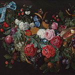 Jacob van Walscapelle A Swag of flowers 1646 20, van de Jan Capelle