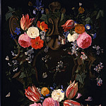 часть 3 -- European art Европейская живопись - Jan van Kessel A garland of flowers 26676 172