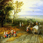 JAN BRUEGHEL THE ELDER Panoramic Landscape with Travellers 11285 172, Jan Brueghel The Elder