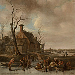 Jan Steen A winter landscape with young kolf players on a frozen river 28174 20, Jan Havicksz Steen