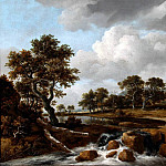 часть 3 -- European art Европейская живопись - Jacob van Ruisdael A wooded River Landscape with a Shepard his family and flock 27084 268