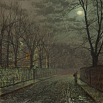 John Atkinson Grimshaw Under the moonbeams Knostrop Hall 98619 20, Том Холл