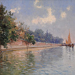 "IWILL pseudonym of Léon Marie Joseph CLAVEL Paris 1850 1923 French School ""The Public Gardens in Venice"" 90027 121, De Schryver Louis Marie"