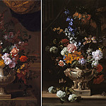 часть 3 -- European art Европейская живопись - Jean Baptiste Monnoyer Flowers in a sculpted urns on a ledges 99539 20