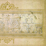 LIVIO AGRESTI Ornamental Frieze with Grotteschi and Cartouche 11330 172, Livio Agresti