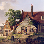 Jan Hendrick Verheyen A Dutch Village Scene with Figures 12289 2426, Jan Hendrik Verheyen