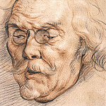 JACOB JORDAENS Head of an elderly man possibly Adam van Noort 33000 1765, Jacob Jordaens