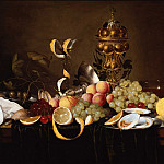 часть 3 -- European art Европейская живопись - Jan Pauwel Gillemans I Still Life of Fruit with Oysters a Tazza a Guild Goblet and a FaГ§on de Venise 78339 276