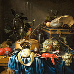 часть 3 -- European art Европейская живопись - Jan Pauwel Gillemans the Younger A Still Life of Fruit a Pie Wine Glasses a little Lobster and a Nautilus Shell 27086 268