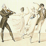 HORACE VERNET Two Couples Dancing to a Fiddler 11677 172, Horace Vernet