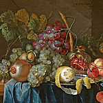 часть 3 -- European art Европейская живопись - Jan Davidsz de Heem Still Life with Lemons Pomegranates and Grapes on a Table 80459 276