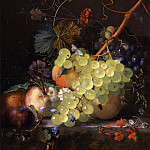 Jan van Huysum Still life of grapes and a peach on a table top 26678 172, Ян ван Хёйсум