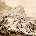 часть 3 -- European art Европейская живопись - HERMAN SAFTLEVEN Mountaineous Landscape with Figures 11395 172