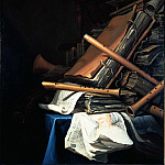 часть 3 -- European art Европейская живопись - Jan Vermeulen Still Life of Books and Musical Instruments 31517 276