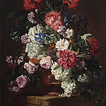 часть 3 -- European art Европейская живопись - Hieronimus Galle 1 Flowers in a terracotta urn on a stone ledge 28305 20
