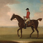 James Seymour Mr John Martindale's chestnut racehorse Sedbury with jockey up 28605 20, John Martin