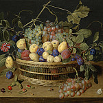 часть 3 -- European art Европейская живопись - Jacob van Hulsdonck Fruit in a Basket on a Table 99079 20