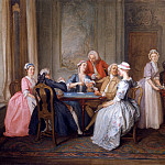 часть 3 -- European art Европейская живопись - Hubert FranГ§ois Gravelot A Game of Quadrille 16523 308