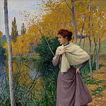 часть 3 -- European art Европейская живопись - Leopold Franz Kowalski Autumn on the Shore of the Lake 37521 121