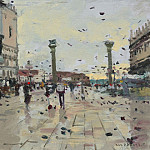 часть 3 -- European art Европейская живопись - Ken Howard Early morning S Marco 0805 100739 4426