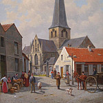 часть 3 -- European art Европейская живопись - Jacques FranГ§ois CARABAIN Church of Sint Kwintens Lennik 41859 617