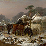 John Frederick Herring Snr The farmyard in winter 98759 20, John Eder