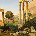часть 3 -- European art Европейская живопись - LANCELOT THEODORE TURPIN DE CRISSГ‰ COMTE DE View of the Roman Forum with the Temples of Vespasian and Saturn 11422 172