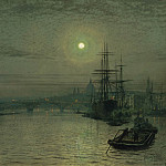 часть 3 -- European art Европейская живопись - John Atkinson Grimshaw London Bridge Night 28316 20
