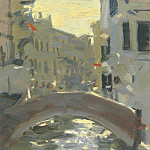 часть 3 -- European art Европейская живопись - Ken Howard Evening light in the Cannareggio05 100599 4426