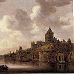 часть 3 -- European art Европейская живопись - Jan Josephsz van Goyen The Valkhof at Nijmegen with a coach and a ferry on the river Waal 46039 172