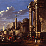часть 3 -- European art Европейская живопись - Jacob van der Ulft An Italianate Capriccio in a Mediterranean Harbour 78379 276