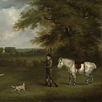 часть 3 -- European art Европейская живопись - John Nost Sartorius A sportsman with his dogs and a pony in a wooded landscape 100019 20